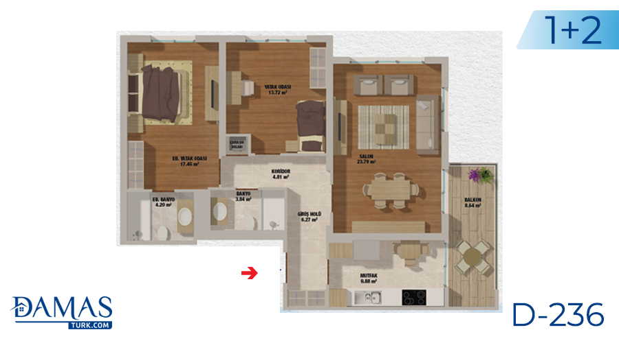 مجمع مجموعة داماس 236 في اسطنبول - صورة مخطط 02