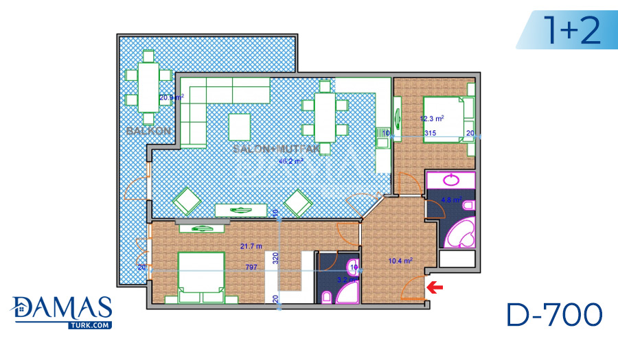 Damas Project D-700 in Ankara - Floor plan picture 02