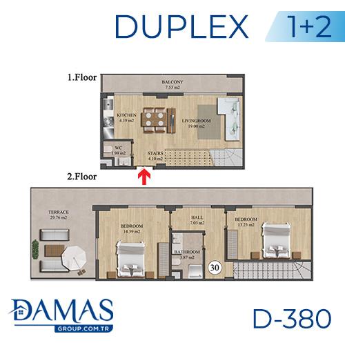 مجمع داماس 380 في اسطنبول - صورة مخطط 02