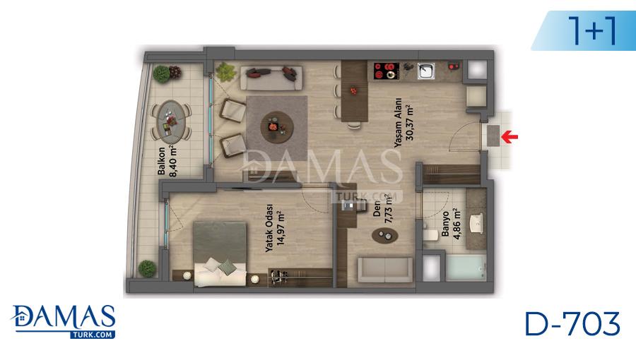 مجمع داماس 703 في أنقرة - صورة مخطط 02