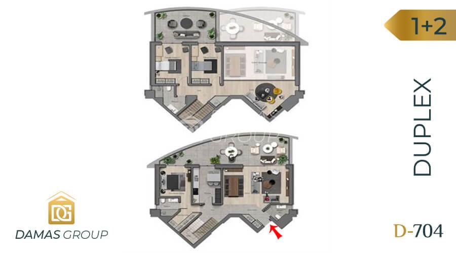 Damas Project D-704 in Ankara - Floor Plan 02
