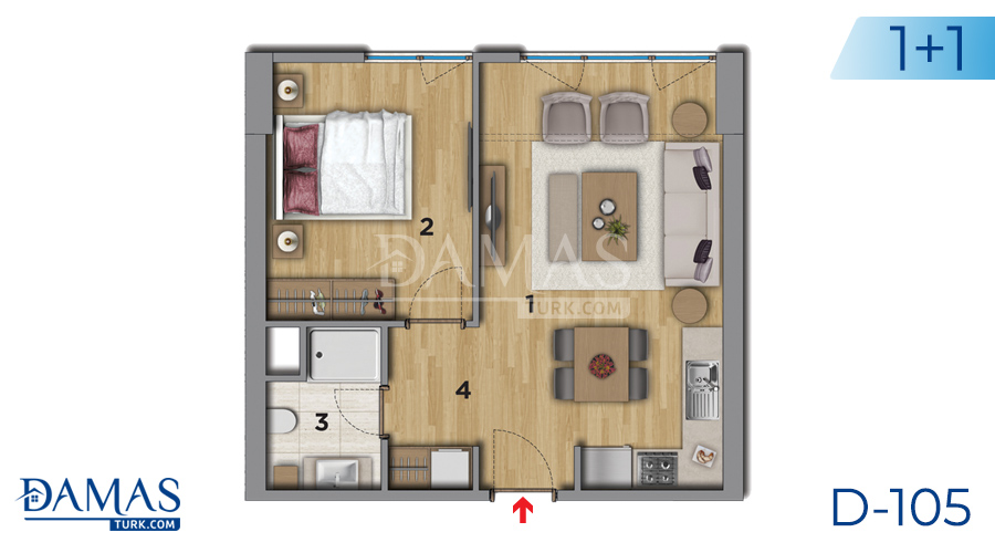 Damas Project D-105 in Istanbul - Floor plan picture 02