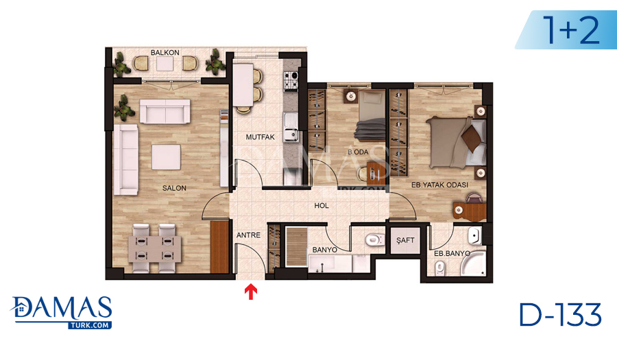 Damas Project D-131 in Istanbul - Floor plan picture 02