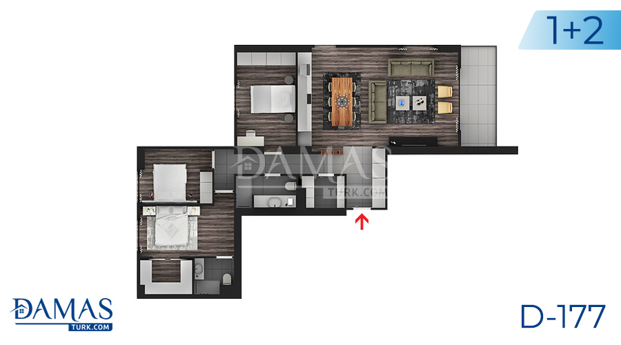 Damas Project D-177 in Istanbul - Floor plan picture  02