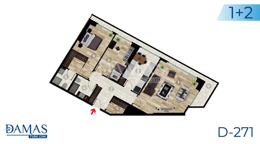 مجمع داماس 271 في اسطنبول - صورة مخطط 02