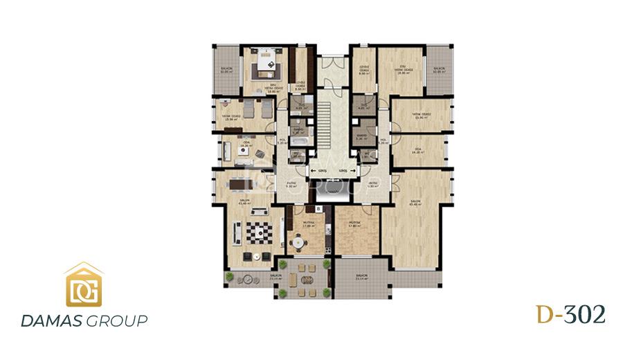 مجمع داماس 302 في بورصة  - صورة مخطط 02