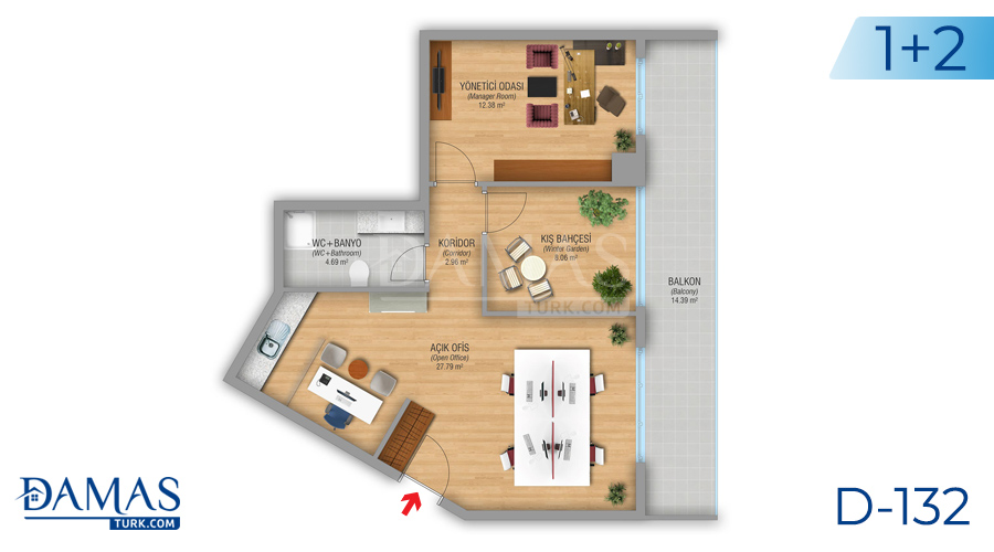 Damas Project D-132 in Istanbul - Floor plan picture 03