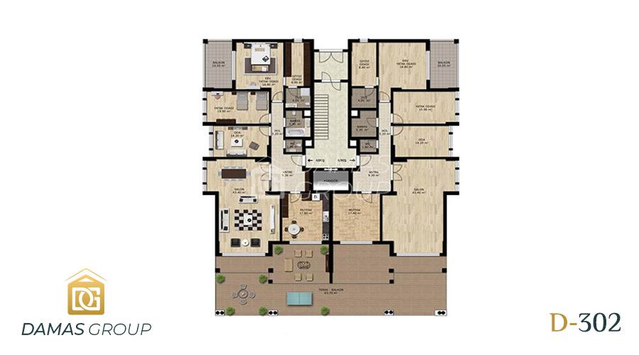 مجمع داماس 302 في بورصة  - صورة مخطط 01