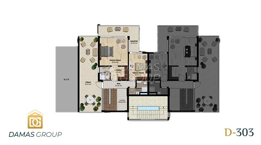 مجمع داماس 303 في بورصة  - صورة مخطط 02