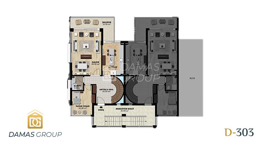 مجمع داماس 303 في بورصة  - صورة مخطط 03