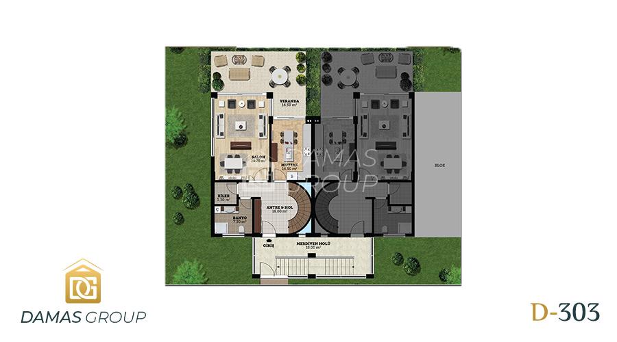مجمع داماس 303 في بورصة  - صورة مخطط 01