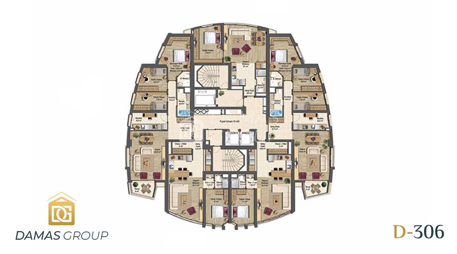 مجمع داماس 306 في بورصة  - صورة مخطط 02