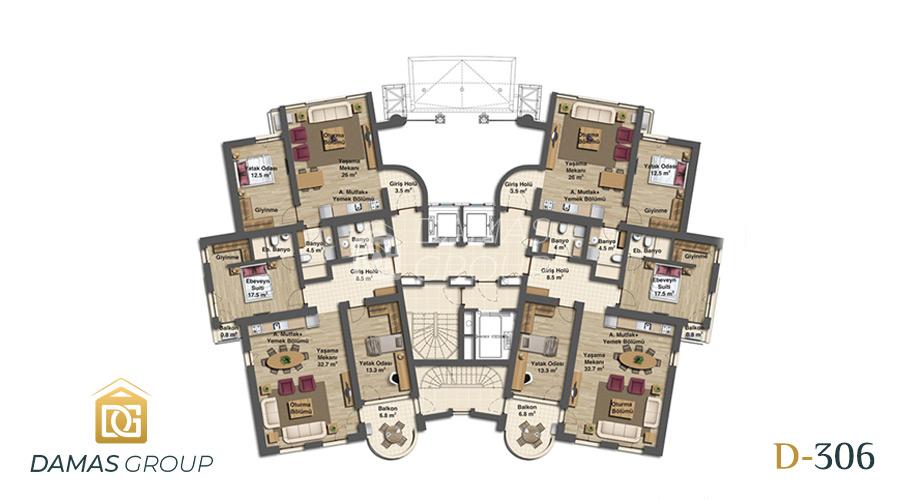 مجمع داماس 306 في بورصة  - صورة مخطط 03