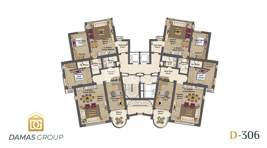 مجمع داماس 306 في بورصة  - صورة مخطط 01