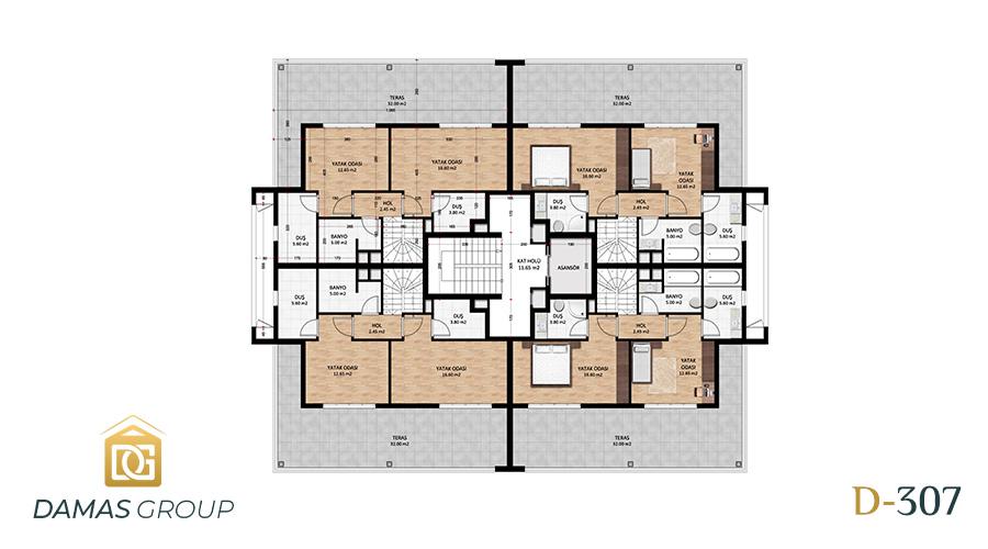 Damas Project D-307 in Bursa - Floor Plan 03