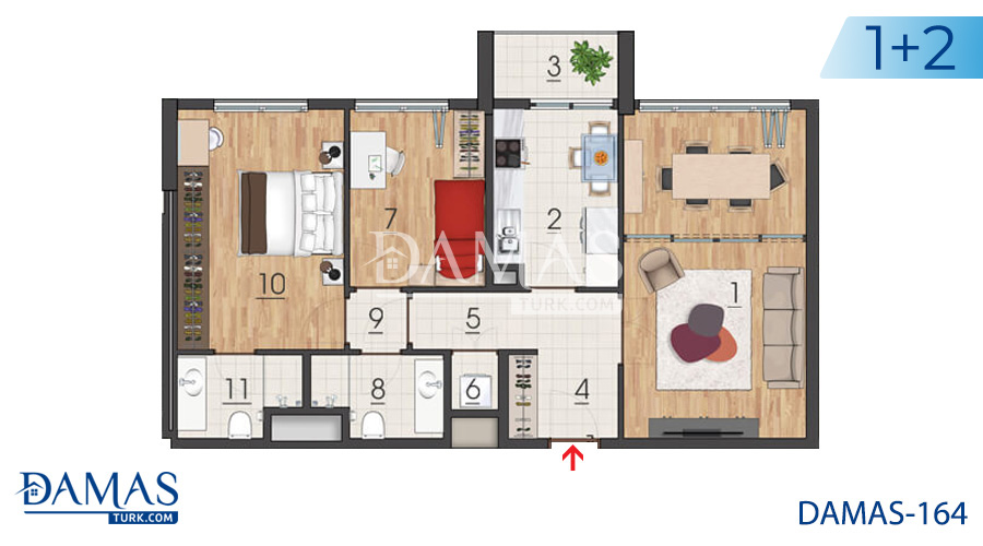 Damas Project D-164 in Istanbul - Floor plan picture 03