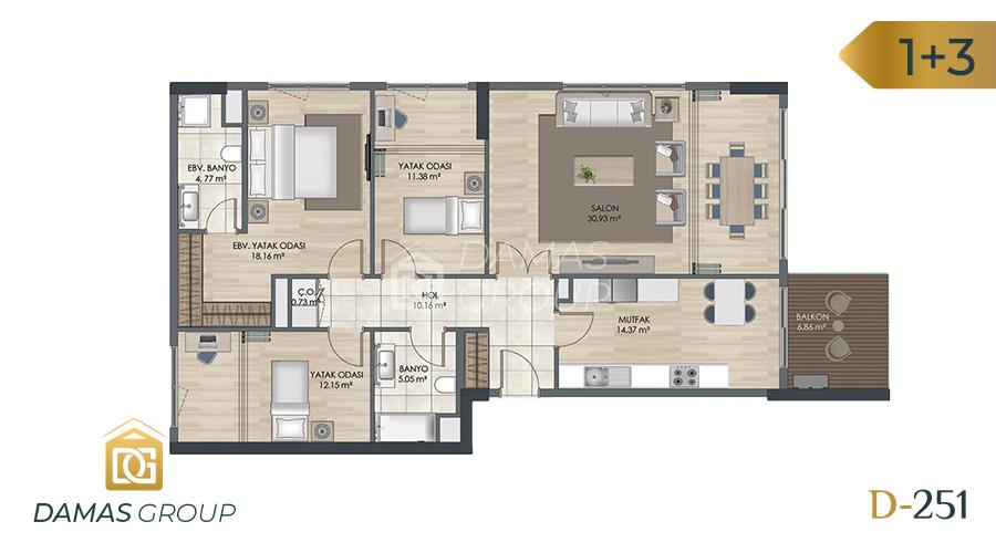 مجمع داماس 251 في اسطنبول  - صورة مخطط 05
