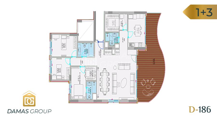 مجمع داماس 186 في اسطنبول  - صورة مخطط 04