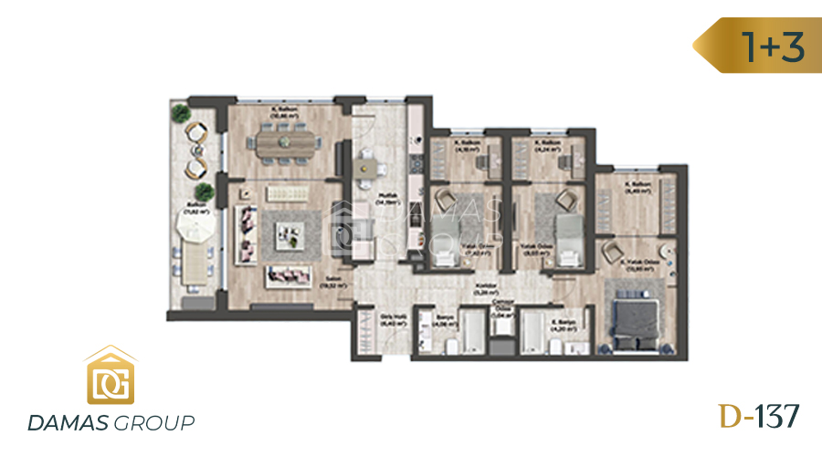 Damas Project D-137 in Istanbul - Floor Plan 04