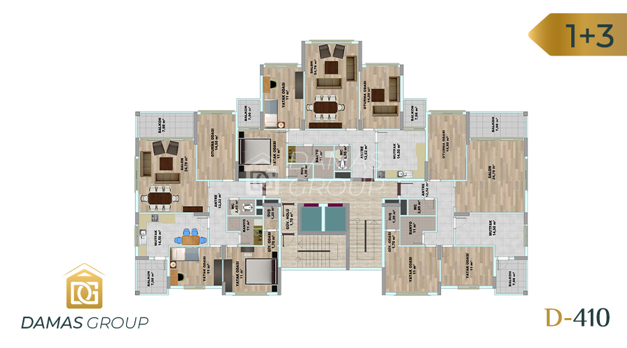 Damas Project D-410 in Trabzon - Floor Plan 01