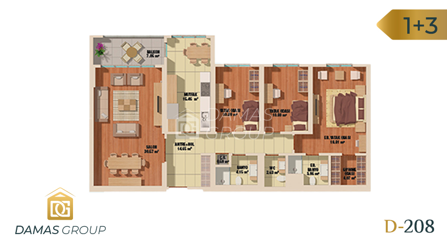 Damas Project D-208 in Istanbul - Floor Plan 04