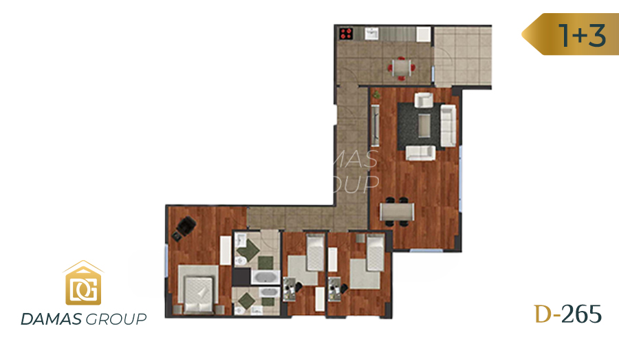 Damas Project D-265 in Istanbul - Floor Plan 03