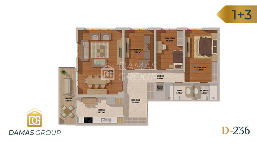 Damas Project D-236 in Istanbul - Floor Plan 04