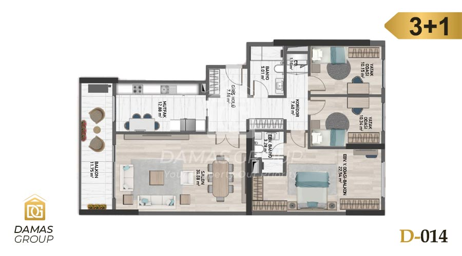 Damas Project D-014 in Istanbul - Floor Plan 05