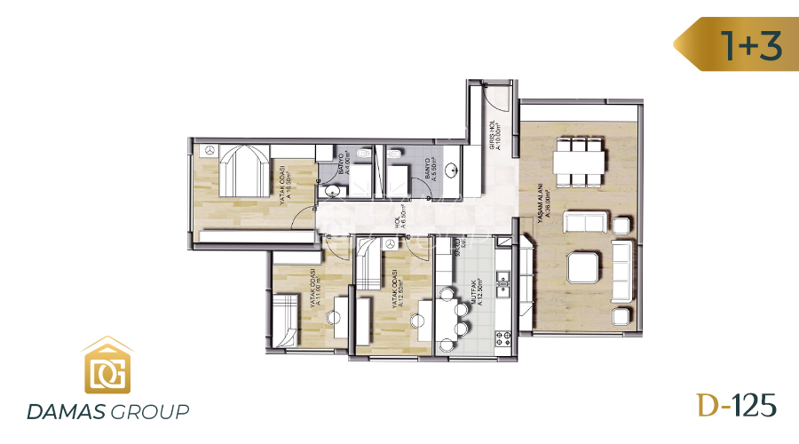 Damas Project D-125 in Istanbul - Floor Plan 04