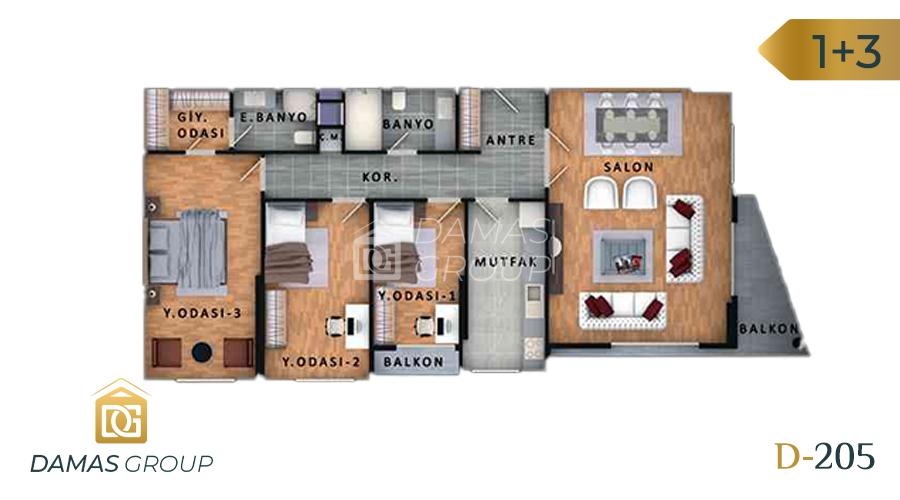 مجمع داماس 205 في اسطنبول  - صورة مخطط 04