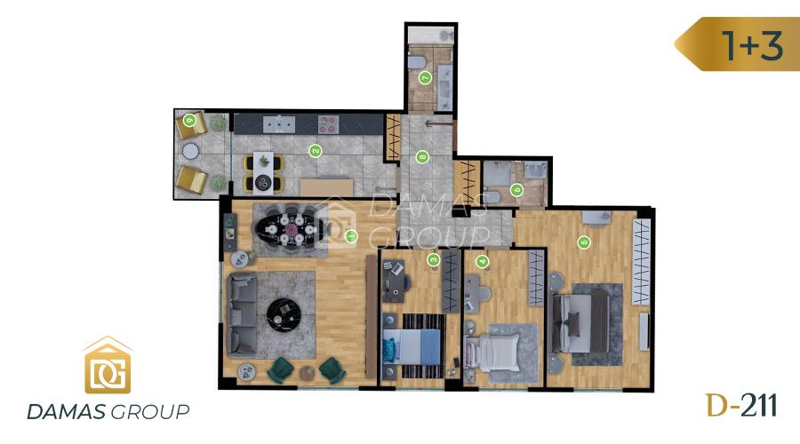 Damas Project D-211 in Istanbul - Floor Plan 03
