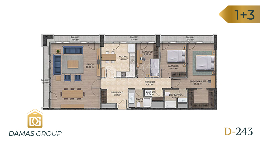 Damas Project D-243 in Istanbul - Floor Plan 06