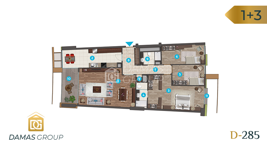 Damas Project D-285 in Istanbul - Floor Plan 03