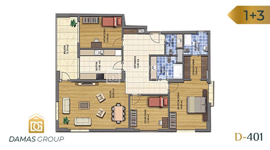 مجمع داماس 401 في طرابزون  - صورة مخطط 04