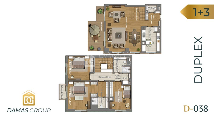 Damas Project D-038 in Istanbul - Floor Plan 04