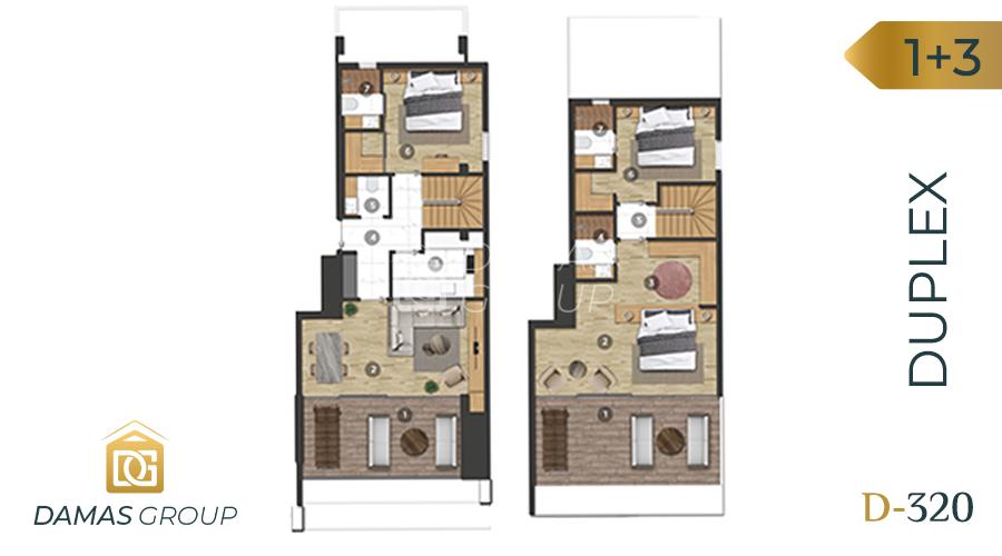Damas Project D-320 in Bursa - Floor Plan 02