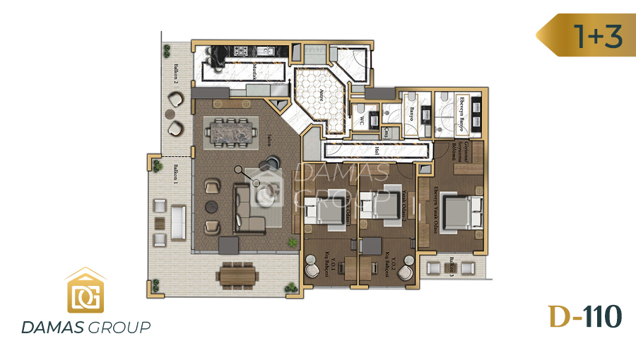 Damas Project D-110 in Istanbul - Floor Plan 02