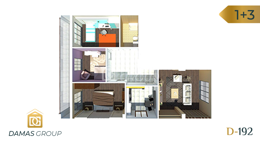 Damas Project D-192 in Istanbul - Floor Plan 02