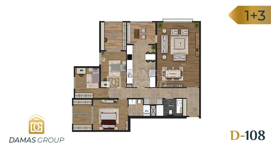Damas Project D-108 in Istanbul - Floor Plan 05