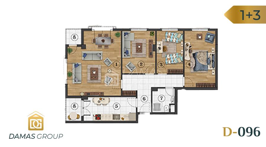 Damas Project D-096 in Istanbul - floor plan  03