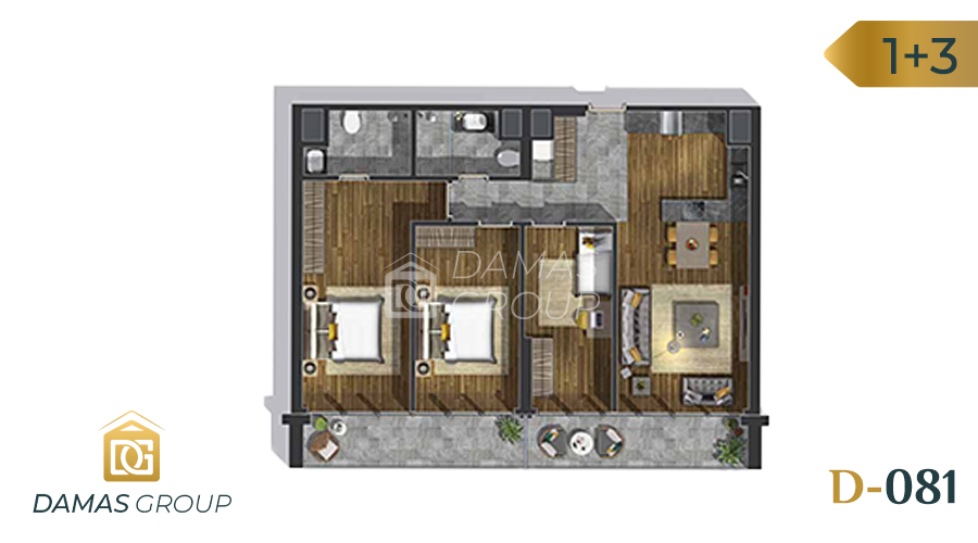 Damas Project D-081 in Istanbul - Floor Plan 03
