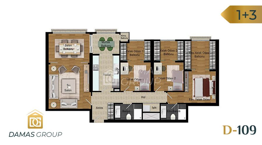 Damas Project D-109 in Istanbul - Floor Plan 04