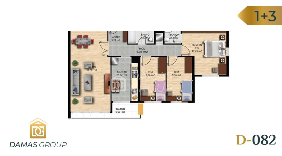 Damas Project D-082 in Istanbul - Floor Plan 03