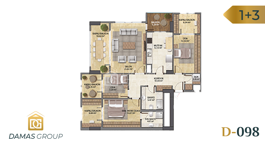 Damas Project D-098 in Istanbul - Floor Plan 01