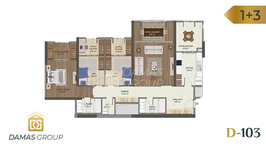 Damas Project D-103 in Istanbul - Floor plan picture 02