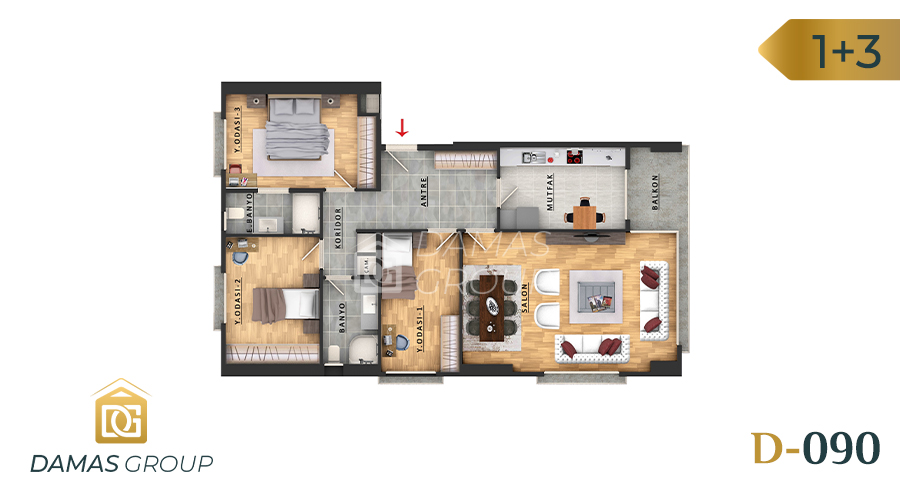Damas Project D-090 in Istanbul - Floor Plan 02