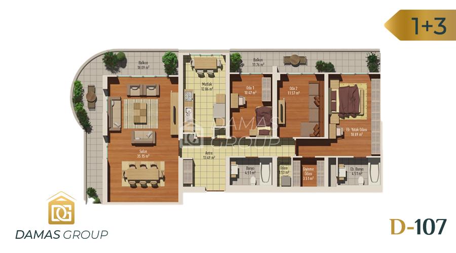 مجمع داماس 107 في اسطنبول  - صورة مخطط 04