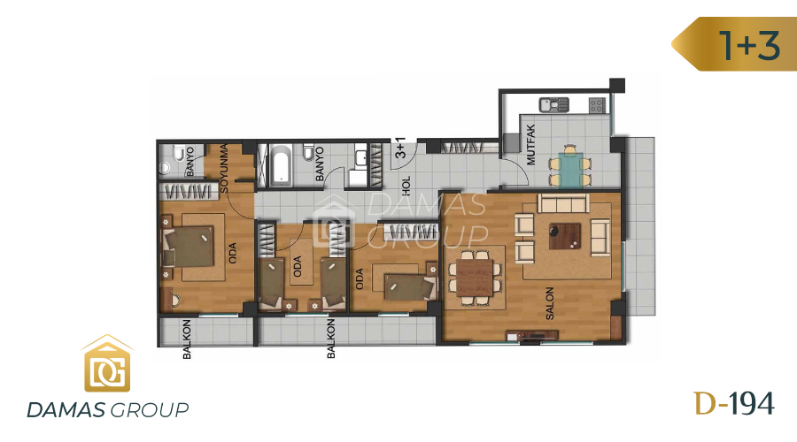 Damas Project D-194 in Istanbul - Floor Plan 03