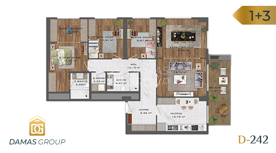 Damas Project D-242 in Istanbul - Floor Plan 03