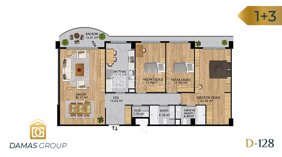 Damas Project D-128 in Istanbul - Floor Plan 04